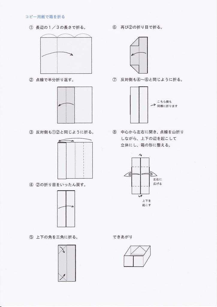 ... 用紙で箱を折る [折り紙] [編集 : 折り紙 箱 長方形 : 折り紙